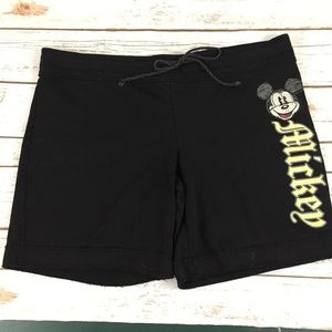 Disney Mickey Mouse Lounge Shorts Black 15/17